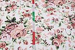 """Відріз тканини """"Троянди пудровий-бордові"""", розмір 85 * 160 см, фото 5"""