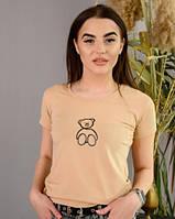 Женская спортивная футболка с принтом новинка 2021, фото 1
