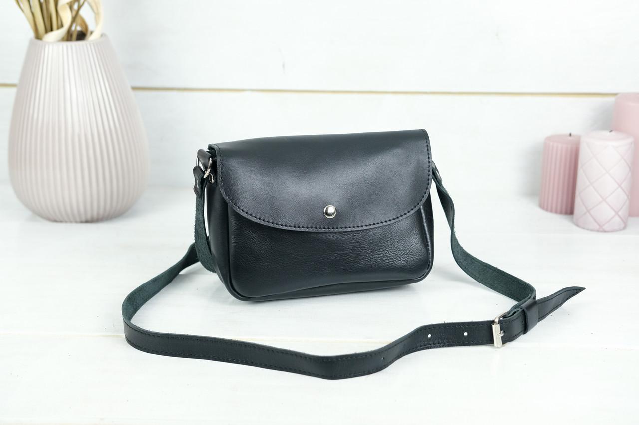 Сумка жіноча. Шкіряна сумочка Мія, Гладка шкіра, колір Чорний