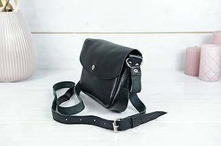 Сумка жіноча. Шкіряна сумочка Мія, Гладка шкіра, колір Чорний, фото 3