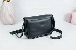 Сумка жіноча. Шкіряна сумочка Мія, Гладка шкіра, колір Чорний, фото 2