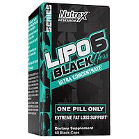Жиросжигатель для женщин Nutrex Lipo-6 Black Hers Ultra Concentrate 60 капсул