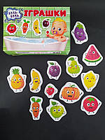 Игра для купания. Фрукты и овощи. ТМ Забава, фото 1