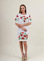 Сукня Квітуче літо вишите полотно біле XXL