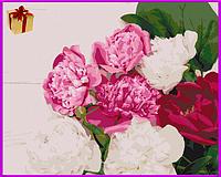 """Картина по номерам на холсте """"Пионы"""", набор для творчества 40*50см подарок, живопись, Раскраски"""