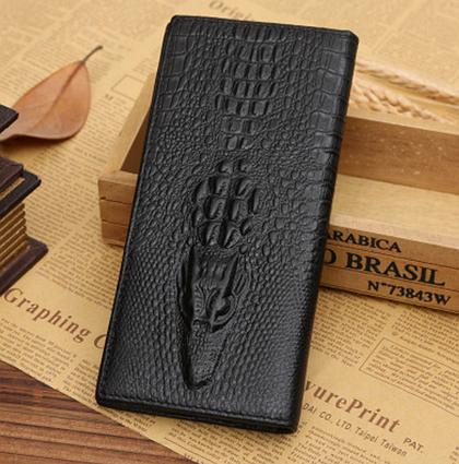 Чоловічий шкіряний гаманець, клатч, портмоне Крокодил Alligator