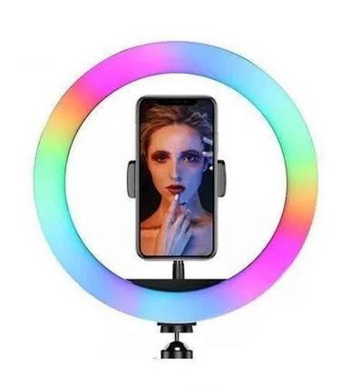 Підсвічування і спалах світлодіодний для селфи, кругла лампа Led, Selfie кільце для фото, набір блогера MJ20 RGB