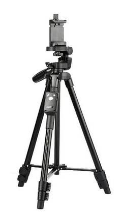 Професійний BLUETOOTH телескопічний штатив, монопод, трипод, для фото -, відеотехніки та телефону vct-5208