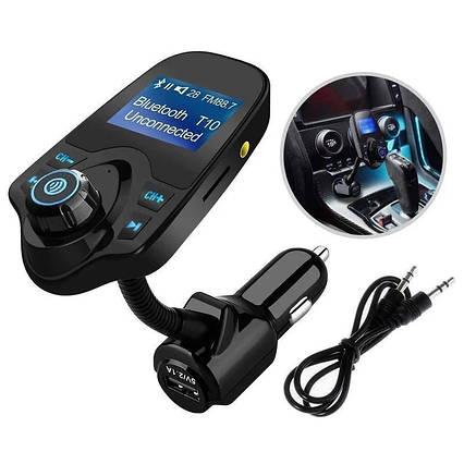 Bluetooth, FM модулятор з мікро SD і 1 роз'ємом USB T10 BT (HZ). Автомобільний трансмітер від прикурювача