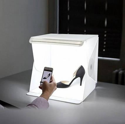 Світловий лайткуб з LED підсвічуванням, Photobox для макрозйомки, Обладнання для предметної фотозйомки 30х30х30см