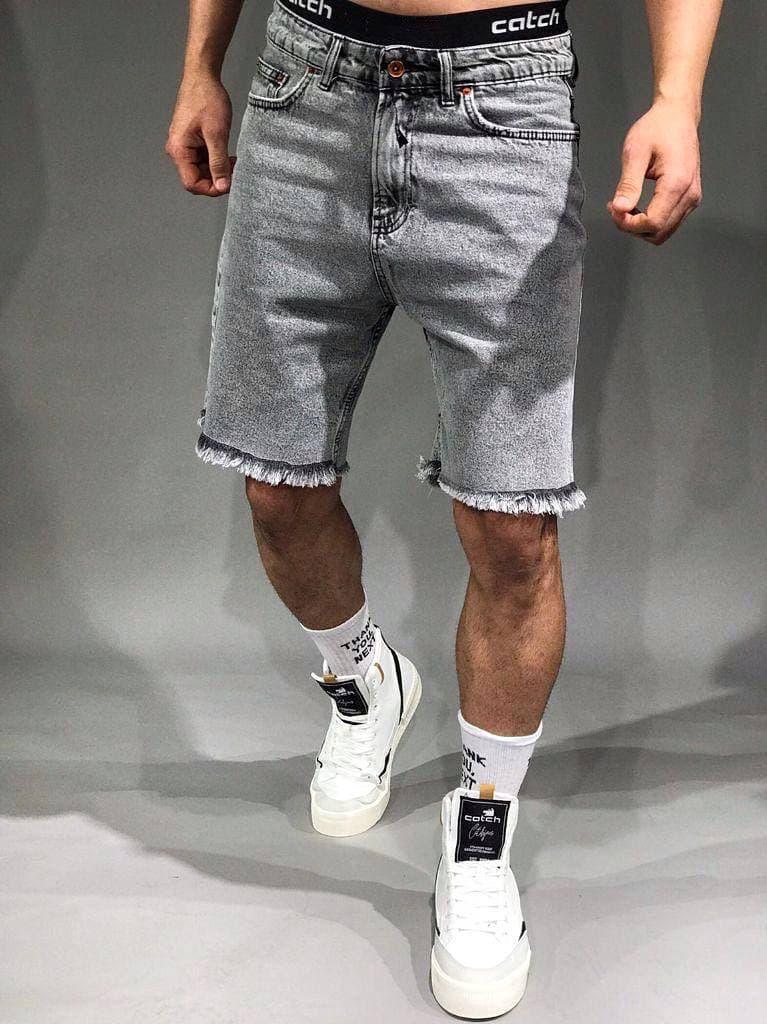 Серые джинсовые шорты мужские 98