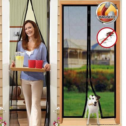 Москітна сітка на магнітах Magic Mesh, Антимоскітна штора на двері, Сітка проти москітів АМ 2