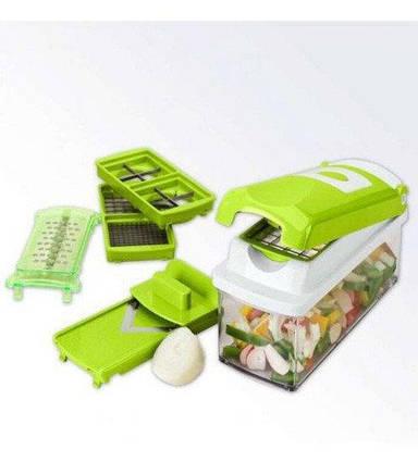 Овочерізка універсальна Nicer Dicer Plus (Найсер Дайсер) 12в1, подрібнювач зручний помічник на вашій кухні