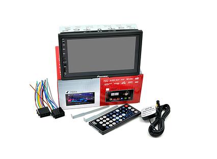 """Автомагнітола 2 DIN MP5 Pioneer 7023 з GPS навігатором і bluetooth, 7"""" Екран (Коротка база) + AV"""