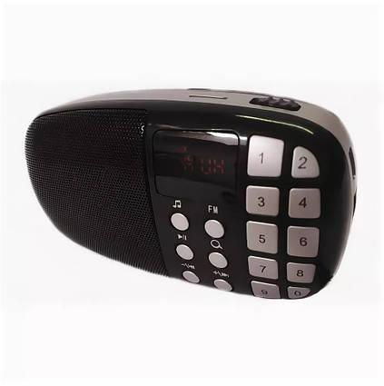 Компактний радіоприймач колонка Toly TO-203 з дисплеєм, кишеньковий приймач колонка MP3, USB, MP4 і SDcard