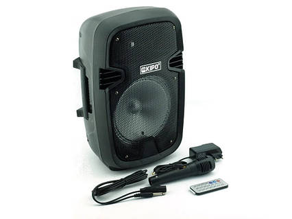 Акумуляторна мобільна акустична система KIPO KB-Q5, портативна Bluetooth акустика з мікрофоном