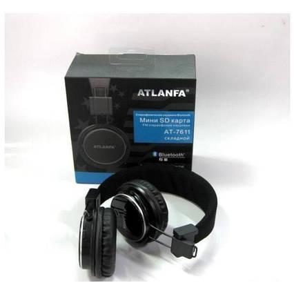 Універсальні бездротові стерео навушники з MP3, FM радіо, Bluetooth і мікрофоном AT-7611A, складні