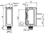 FT 25-BH-PNSL-M4M фотоелектричний Датчик дифузійний з погашенням фону, фото 2