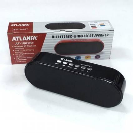 Портативний радіоприймач колонка ATLANFA 1801BT, кишеньковий приймач колонка з USB, SD, Bluetooth, сабвуфер
