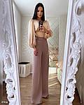 Женские брюки, турецкая костюмка, р-р С-М; М-Л (пудровый), фото 2