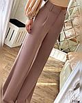 Женские брюки, турецкая костюмка, р-р С-М; М-Л (пудровый), фото 3