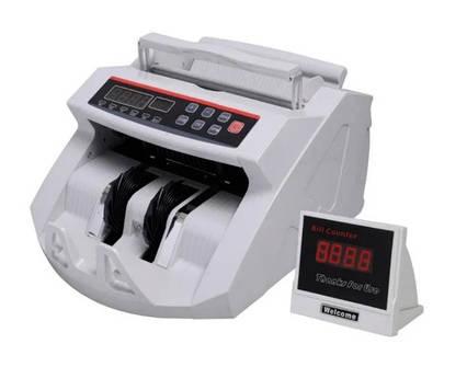 Грошово-лічильна машинка сортувальник для рахунку грошей bill counter 2018 з детектором валют і виносним дисплеєм