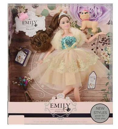 Лялька «Emily» вихованець аксесуари в коробці