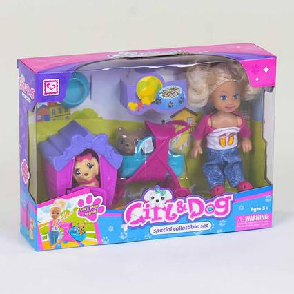 Лялька з собачками До 899-24 2 вихованця будка коляска аксесуари