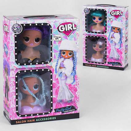 Лялька-голова для зачісок LK 1069 (30/2) 2 шт. в коробці