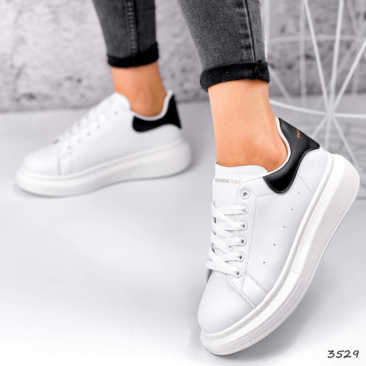 Кроссовки женские Nevin белые + черные 3529