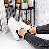 Кроссовки женские Nevin белые + черные 3529, фото 5