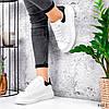 Кроссовки женские Nevin белые + черные 3529, фото 9