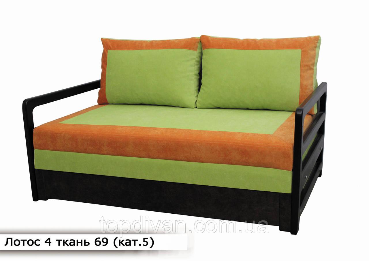 """Диван """"Лотос 4"""". 160 см двойной пружинный блок (ткань 69) кат 5"""