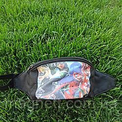 Детская поясная сумка бананка для девочек  <<Леди Баг>>