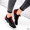 Кросівки жіночі Ayder чорні + червоні 3549, фото 2