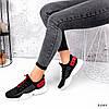 Кросівки жіночі Ayder чорні + червоні 3549, фото 3