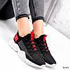 Кросівки жіночі Ayder чорні + червоні 3549, фото 4