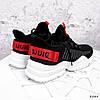 Кросівки жіночі Ayder чорні + червоні 3549, фото 5