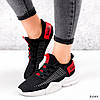 Кросівки жіночі Ayder чорні + червоні 3549, фото 6