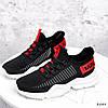 Кросівки жіночі Ayder чорні + червоні 3549, фото 7