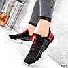 Кросівки жіночі Ayder чорні + червоні 3549, фото 8