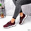 Кросівки жіночі Toia бордо 3641, фото 4