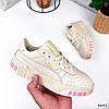 Кроссовки женские в стиле Puma беж + персиковый 3645, фото 3