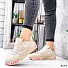 Кроссовки женские в стиле Puma беж + персиковый 3645, фото 7