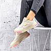 Кроссовки женские в стиле Puma беж + персиковый 3645, фото 10