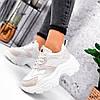 Кроссовки женские Mavis белые + беж 3660, фото 9