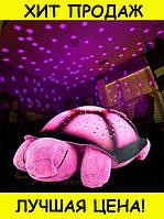 Музыкальная черепаха проектор ночного неба игрушка Ночник РОЗОВАЯ! Новый