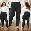 Женские классические строгие брюки со стрелками спереди, батал большие размеры, фото 4