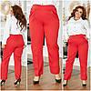 Женские классические строгие брюки со стрелками спереди, батал большие размеры, фото 8