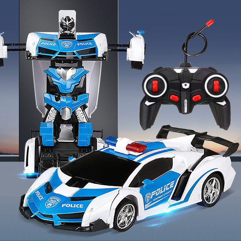 Робот Машинка трансформер  на радиоуправлении полицейская  Ламборджини радиоуправляемый трансформер